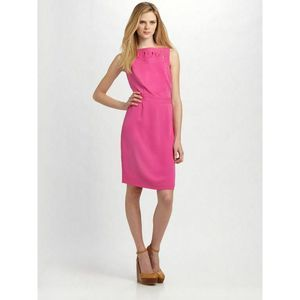 TORY BURCH Pink Leith Silk Georgette Shift Dress